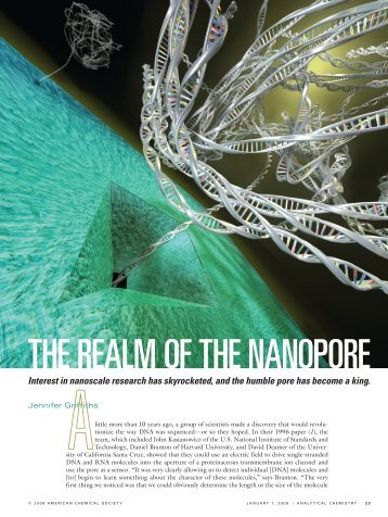 THE REALM OF THE NANOPORE - Physics - Syracuse University
