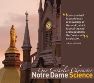 Our Catholic Character - College of Science - University of Notre ...