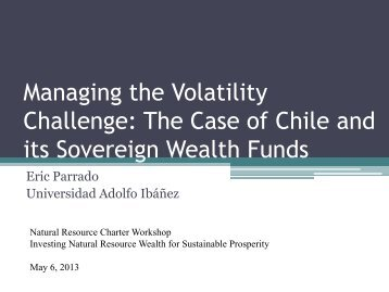 Eric Parrado - Managing the Volatility Challenge - Natural Resource ...