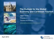 The Outlook for the Global Economy and Caribbean Tourism