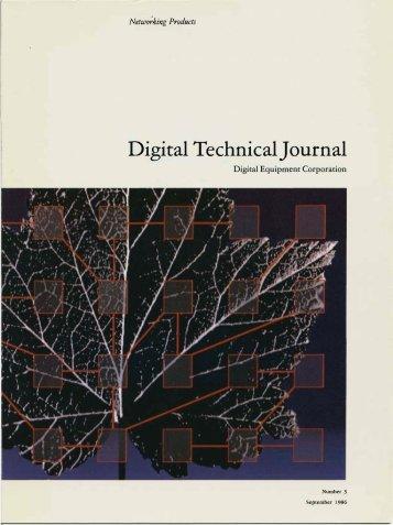 DTJ Number 3 September 1987 - Digital Technical Journals
