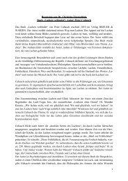 """Rezension von Dr. Christian Eisenschink Buch """"Lachen verbindet ..."""