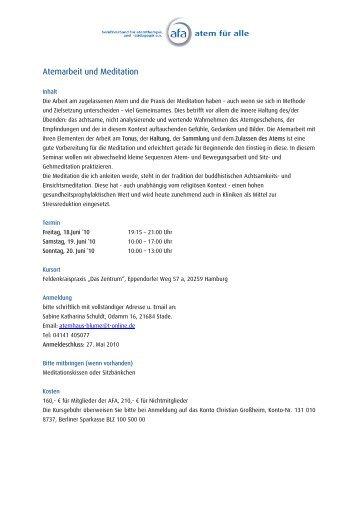 Atemarbeit und Meditation - BVA e. V. Berufsverband für ...