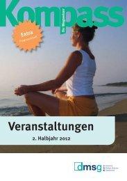 Veranstaltungen 2. Halbjahr 2012 - DMSG Berlin