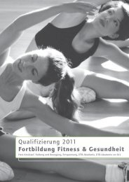 Lehrgangsplan 2011_Fortbildung Fitness Gesundheit