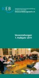 Veranstaltungen 1. Halbjahr 2011 - Bistum Eichstätt