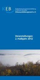 Veranstaltungen 2. Halbjahr 2012 - Bistum Eichstätt