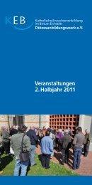 Veranstaltungen 2. Halbjahr 2011 - Bistum Eichstätt
