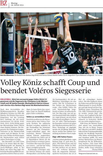 Volley Köniz schafft Coup und beendet Voléros ... - VBC-Köniz