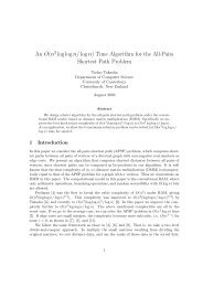 Time Algorithm for the All-Pairs Shortest Path Problem - University of ...