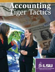 Accounting Tiger Tactics - EJ Ourso College of Business - Louisiana ...