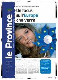 Un focus sull'Europa che verrà - UPI - Unione delle Province d'Italia