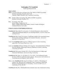 Curriculum Vitae - College of Education - University of New Mexico