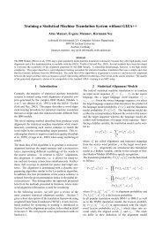 The Isl Statistical Translation System For Spoken Tc Star Project Paraphrase Lattice Machine