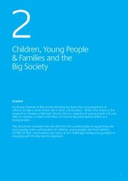 Children, Young People & Families and the Big Society - One East ...