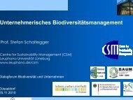 Unternehmerisches Biodiversitätsmanagement
