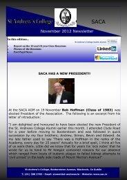 November 2012 Newsletter - St. Andrew's College, Dublin