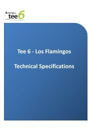 Tee 6 - Los Flamingos Technical Specifications - Restless Earth