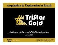 TSX V: TSG - TriStar Gold, Inc.