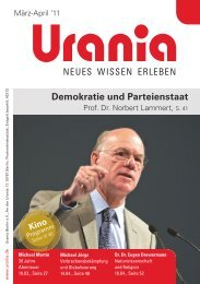 Demokratie und Parteienstaat - Urania