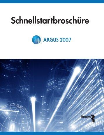 Schnellstartbroschüre - ARGUS Software