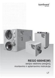 REGO 600HE(W) montavimo instrukcija - komfovent