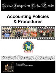 Accounting Policies & Procedures - United Independent School District