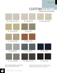 Spacesaver Custom Color Chart - Modern Office Systems