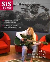SiS i Fokus nr 3/08 (pdf 1,33 MB, nytt fönster) - Statens ...