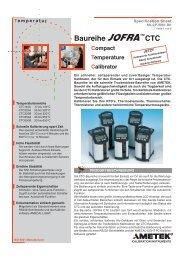Baureihe CTC Compact Temperature Calibrator - PK elektronik ...