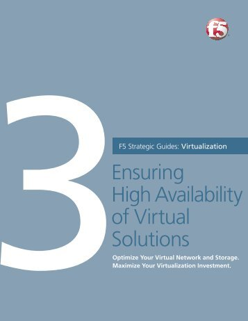 303 asm technology specialist f5 networks f5 virtualization guides vol 3 ensuring high f5 networks malvernweather Choice Image