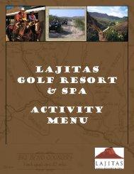 LAJITAS Golf RESORT & SPA Activity menu