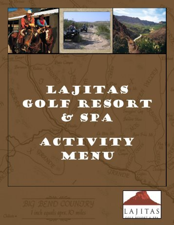 LAJITAS Golf RESORT & SPA Activity menu
