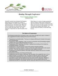 Healing Through Forgiveness - UW Family Medicine - University of ...