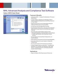 MHL Advanced Analysis and Compliance Test Software ... - Tektronix