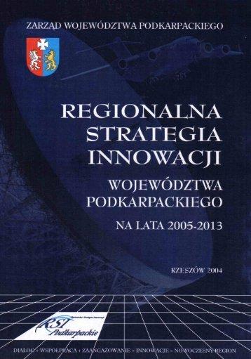Regionalna Strategia Innowacji Województwa Podkarpackiego