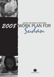 2008 WORK PLAN FOR - UN & Partners Work Plan