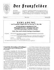 Ausgabe 2 hier herunterladen - Die Franzfelder