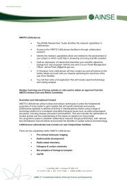Page 1 ANSTO LifeSciences • The AINSE Researchers' Guide ...