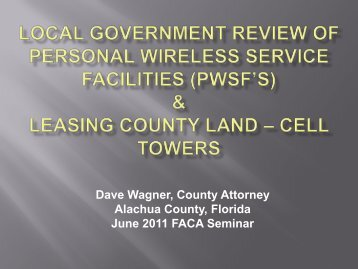 Personal Wireless Service Facilities - Florida Association of Counties
