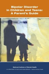 Bipolar Disorder in Children and Teens: A Parent's Guide (PDF)