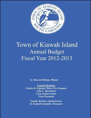 2012-2013 Budget Book - Town of Kiawah Island