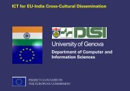 Download the presentation - ICT for EU-India Cross Cultural ...