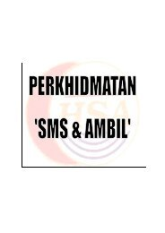 Perkhidmatan SMS & AMBIL - Hospital Sultanah Aminah