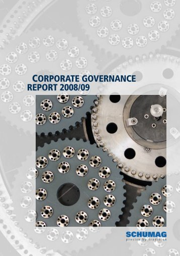CORPORATE GOVERNANCE REPORT 2008/09 - Schumag AG