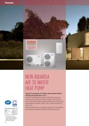 NEW AQUAREA AIR TO WATER HEAT PUMP - Komfovent