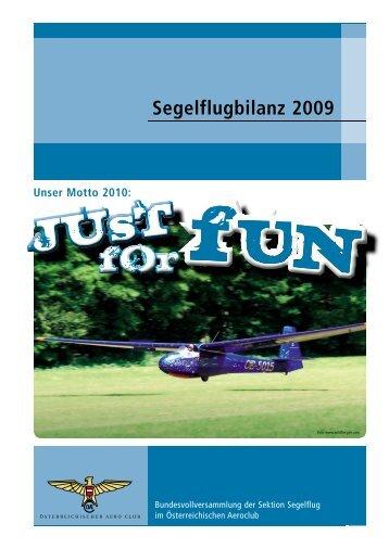 Segelflugbilanz 2009 - Österreichischer Aero-Club (öAEC)