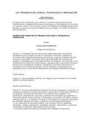 ley organica de ciencia, tecnologia e innovación - Academia de ...