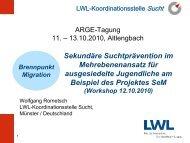 Workshop Wolfgang Rometsch - Österreichische ARGE ...