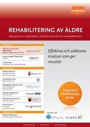 rehabilitering av äldre - Conductive
